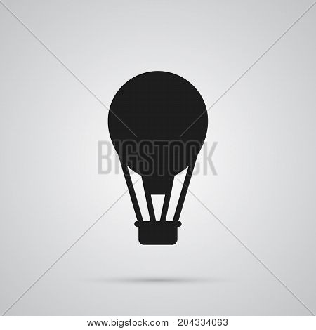 Isolated Air Balloon Icon Symbol On Clean Background