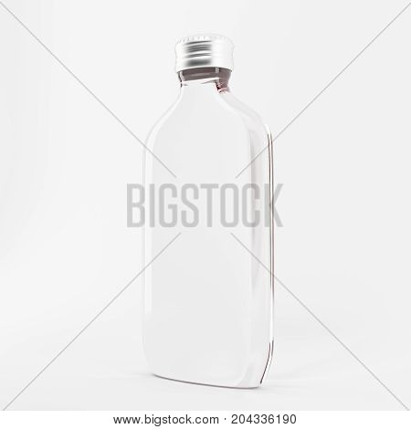 Bottle for fragrances with design in plastic and glass