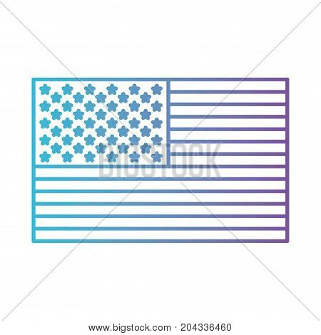 flag united states of america flat icon in color gradient silhouette from purple to blue vector illustration