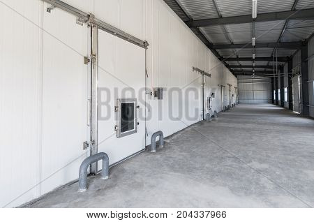 Warehouse Freezer In The Factory
