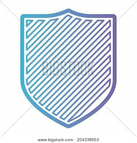 coat of arms with striped in color gradient silhouette from purple to blue vector illustration