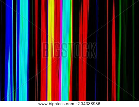 Glitch psychedelic background. Old TV screen error. Digital pixel noise abstract design. Broken pixels glitch. Television signal fail. Technical problem grunge wallpaper. Colorful noise rerto