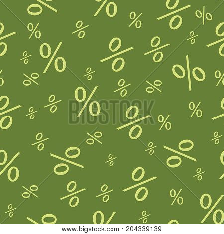 Percent seamless business background. Discount endless illustration. Economic finance promotion pattern