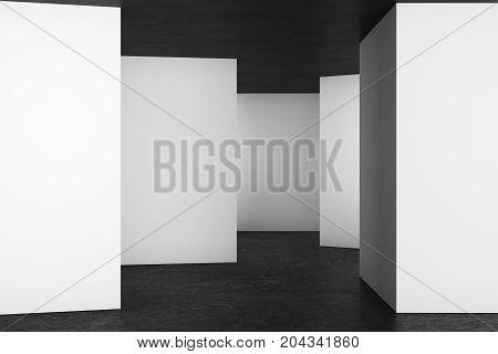 Clean Light Interior With Empty Wall