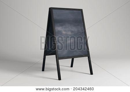 Empty Chalk Menu Board