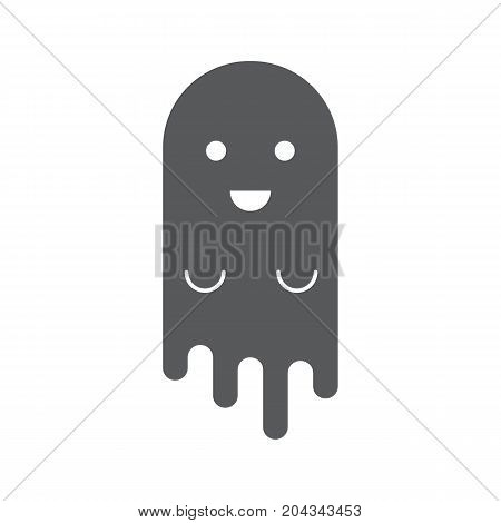 Ghost icon. Simple ghost vector icon for web isolated on white background