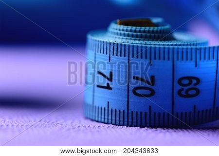 Roll Of Tape Measure In Close Up