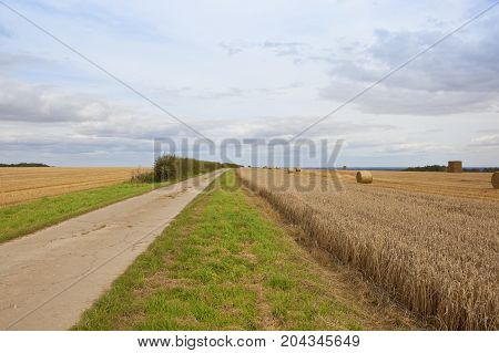 Bridleway And Straw Bales