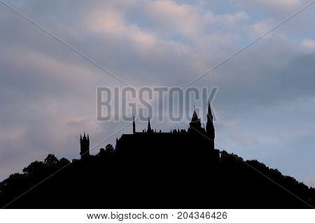 The Hohenzollern castle near Hechingen in Germany