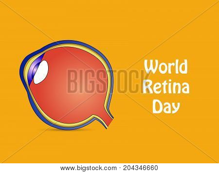 illustration of Retina with World Retina Day text on the occasion of World Retina Day