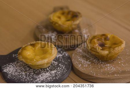 traditional portuguese cakes pastel pasteis de nata