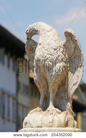 Eagle Fountain In Trento, Italy