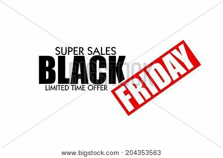 BLACK FRIDAY AS AN ILLUSTRATION ON WHITE BACKGROUND. SHOPPING BACKGROUND. BLACK FRIDAY SUPER SALES.