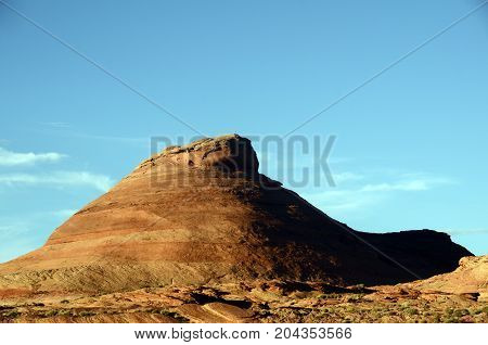 Lake Powell mountain view landscape in USA