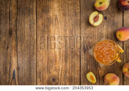 Portion Of Peach Jam, Selective Focus