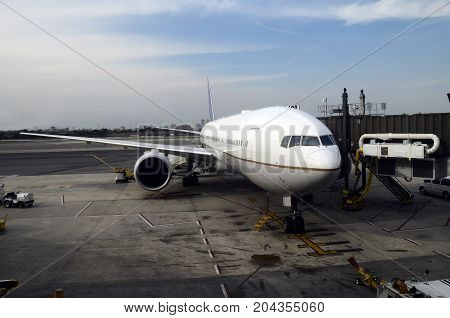 Airplane And Airport View