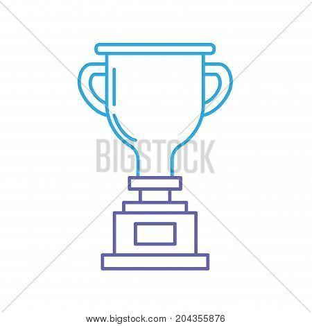 line prize symbol to winner champion vector illustration