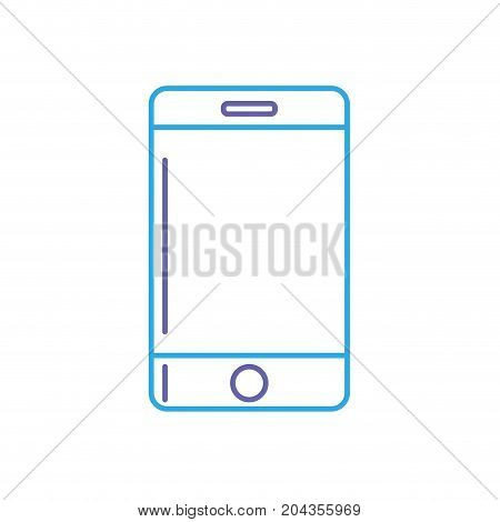 line technology smartphone to communicate and speak vector illustration