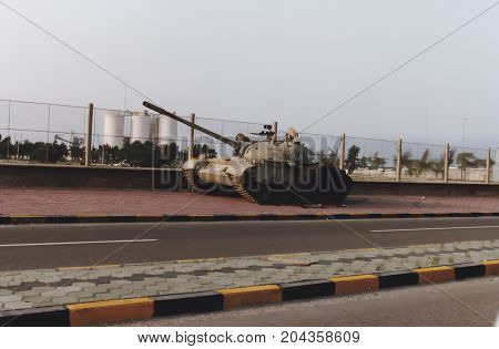 Tank On Side Of Road, Kuwait