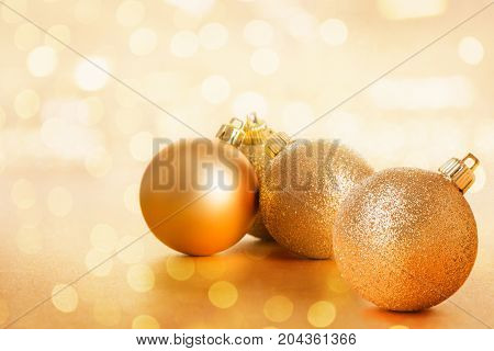 Golden Christams Ball Decoration