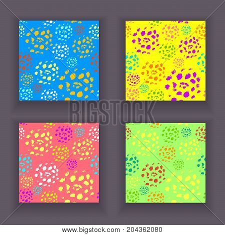 Set  abstract seamless pattern made by artist acrylic hard brushes colorful for creative design or for grunge artistic background  or for  decoration  package of perfume  cosmetic and others