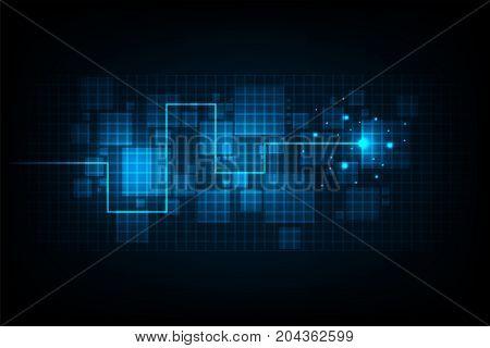 Digital work on a dark blue background.