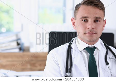 Male Medicine Doctor Hands Crossed On His Chest