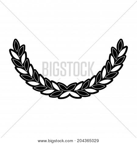 olive medium arch in monochrome silhouette vector illustration