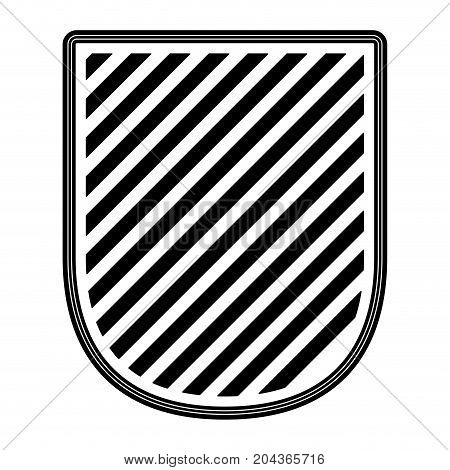 badge striped in monochrome silhouette vector illustration