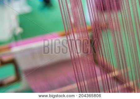 Traditional Loom Machine For Weave Thai Silk