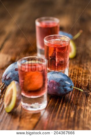 Portion Of Plum Liqueur, Selective Focus