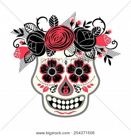 Dia de los muertos. Day of The Dead. Vector design element for invitation, banner, card, poster, flyer, web and other users.