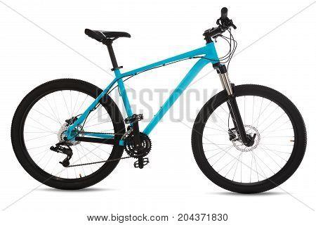 Blue Mountain Bike Isolated On White Background