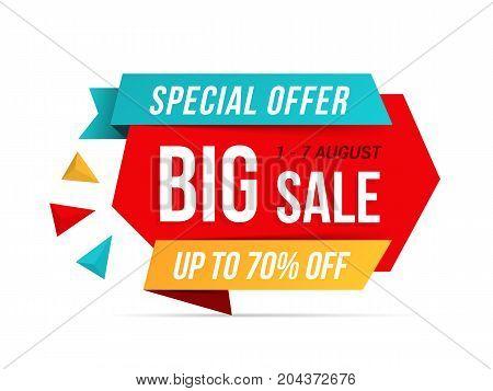 Big sale banner, special offer, vector eps10 illustration