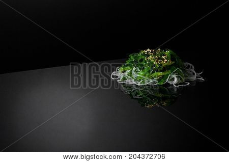 Seaweed On A Black Background