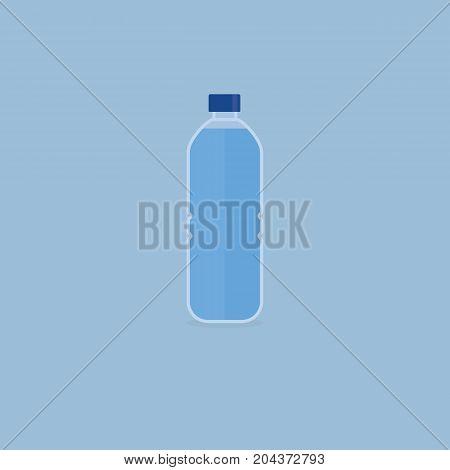 Bottled Water. Bottle Of Water in Flat Style