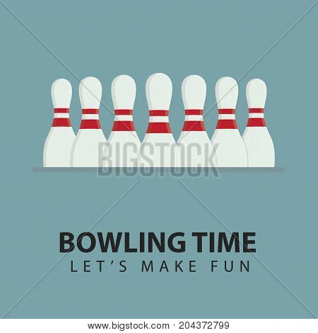 Bowling Pin Illustration. Bowling Leisure Game Concept