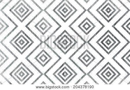 Silver Geometrical Pattern.