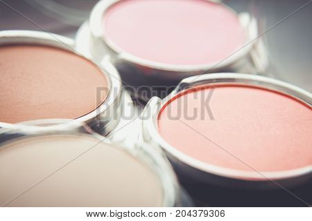 Make up colorful eyeshadows such as fashion background.