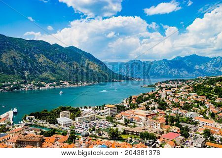 Admiring a Magnificent view of Kotor Bay in Montenegro
