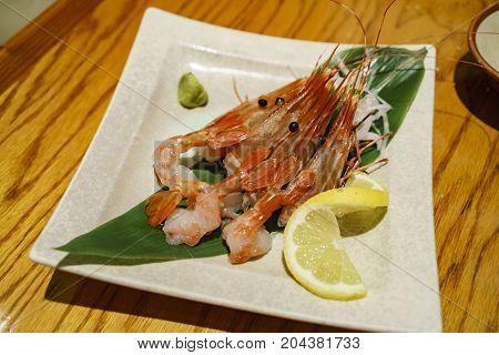 Delicious Raw Sweet Shrimp