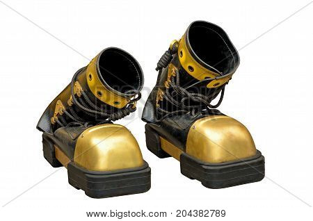 Heavy boots of the diver.Wear them and walk on the bottom of the sea.
