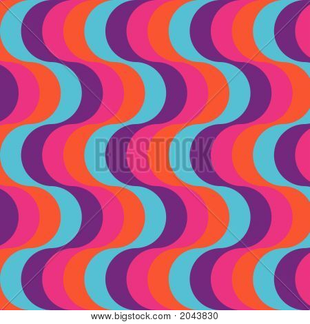 Bright Retro Styled Waves