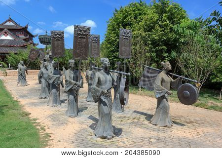 Bronze Statue Of Keep Silence And Make Way