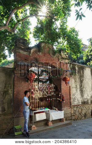 Traders Sell Goods At Gulangyu Island