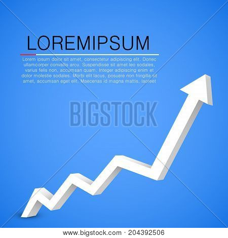 Arrow graph isolated on white background. Vector illustration