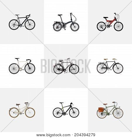 Realistic Road Velocity, Adolescent, Cyclocross Drive And Other Vector Elements