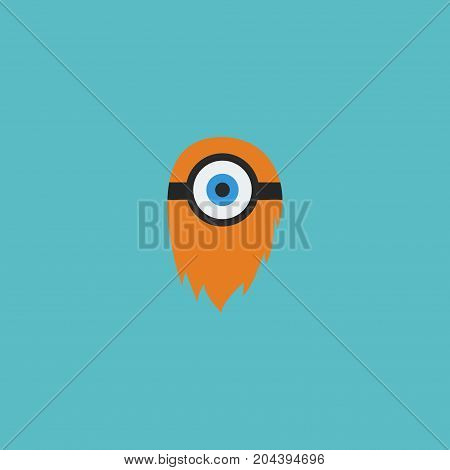 Flat Icon Cyclop Element. Vector Illustration Of Flat Icon Fire Isolated On Clean Background
