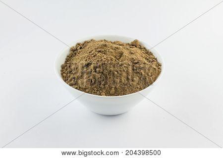 Brown Sugar. Mascavo In A Bowl