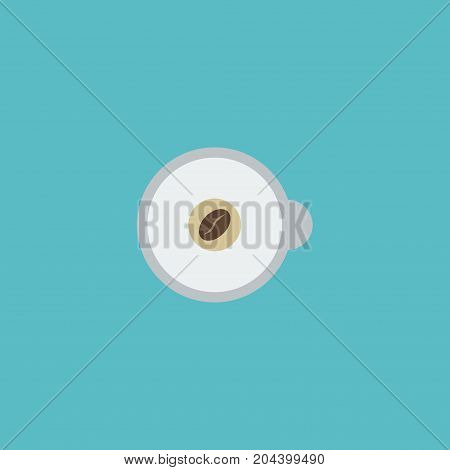 Flat Icon Espresso Element. Vector Illustration Of Flat Icon Cappuccino Isolated On Clean Background